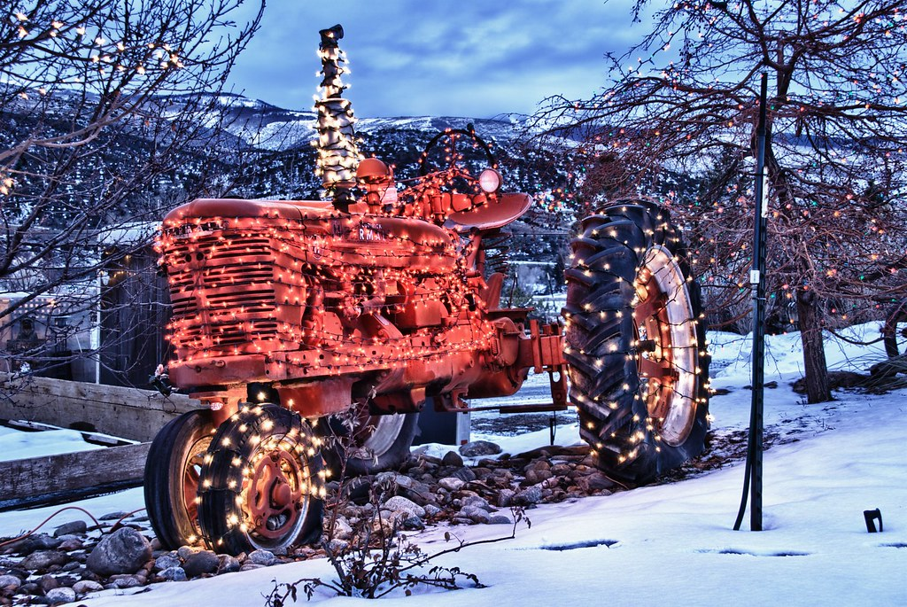 Christmas Tractor Nothing Says Merry Christmas Like A
