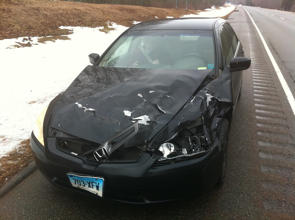 Car Totaled After Street Racing Crssh
