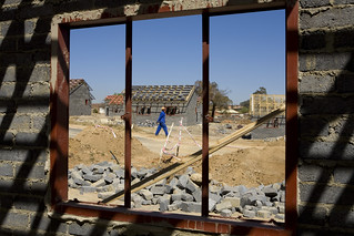 A housing development being constructed | by World Bank Photo Collection