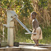 Pumping water in Malawi