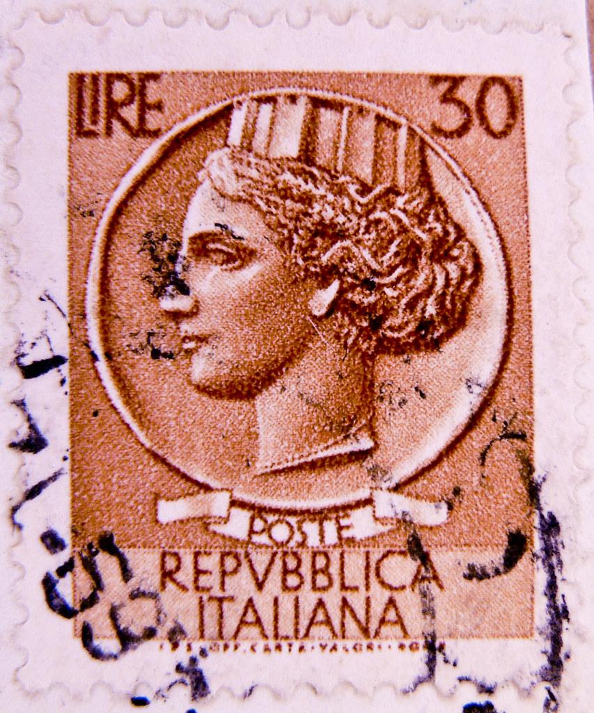 Beautiful Italian Stamps Turrita 30 Lire Italy Bollo Franc Flickr