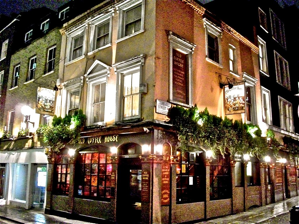 Old coffee house soho london w1 corner of beak for Classic house old street london