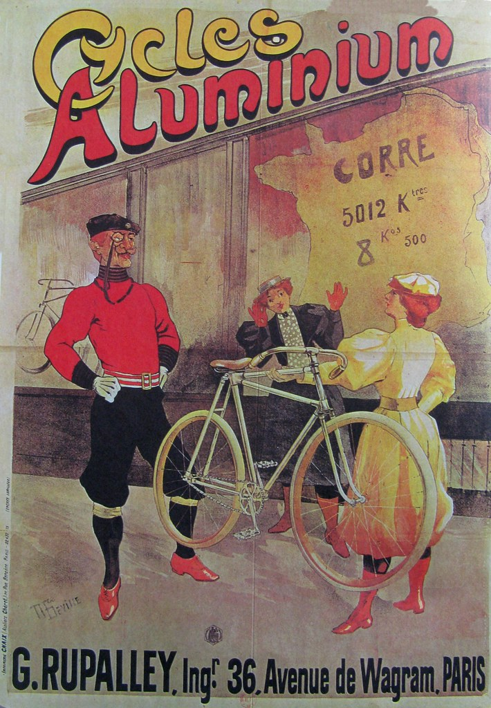 Vintage Bicycle Poster: Cycles Aluminium