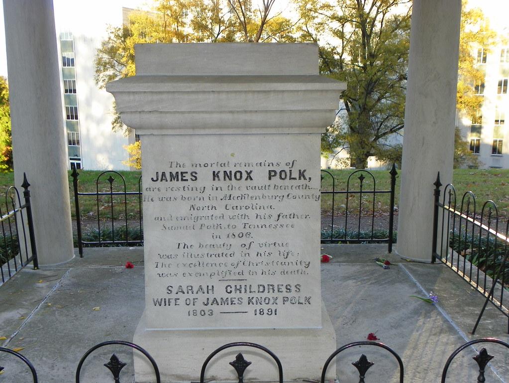 Inscription 1 James K Polk Grave Beside The