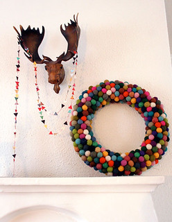 diy: colorful christmas wreath | by the style files