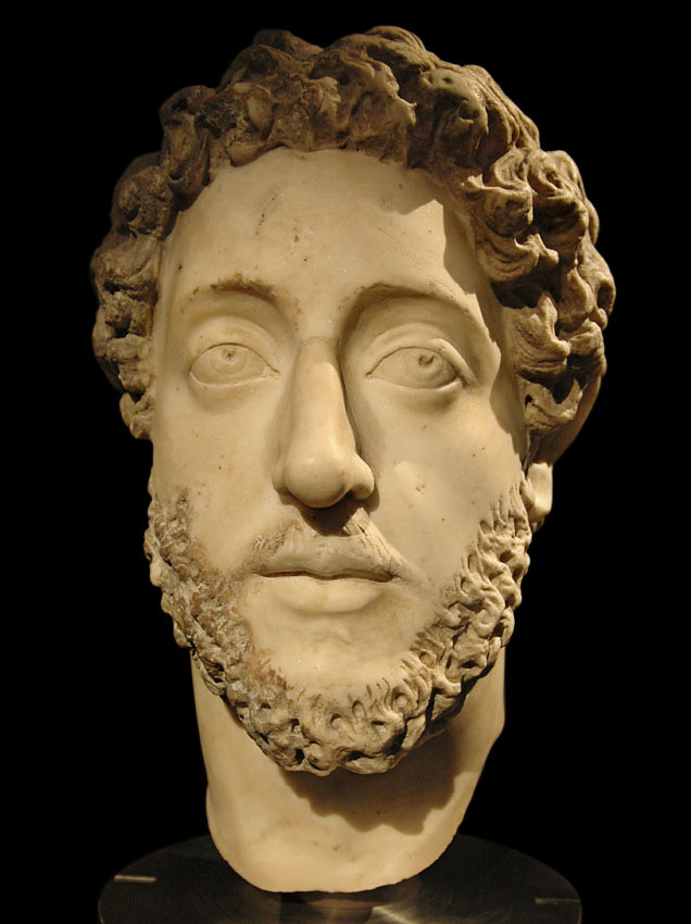 Portrait of the roman emperor Commodus. Vienna, Museum of ...