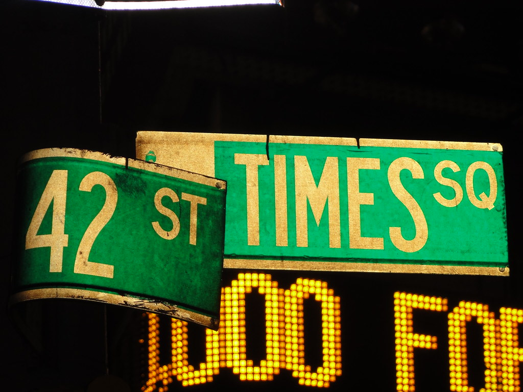 42nd St. Times Square NYC street signs | Times Square New ...