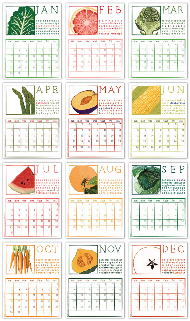 2011  12 Months Of Seasonal Fruits And Vegetables