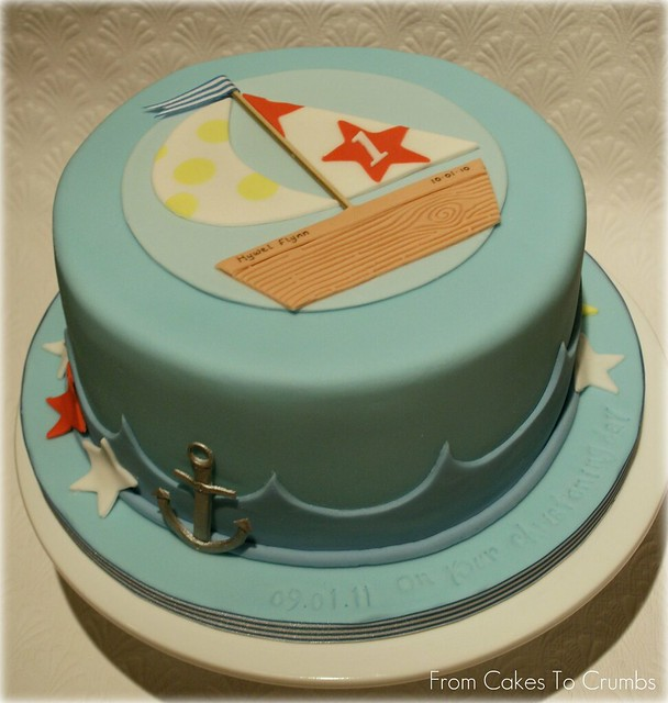 Nautical Cake For A Joint Christening/first Birthday Cake