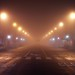It was foggy last night