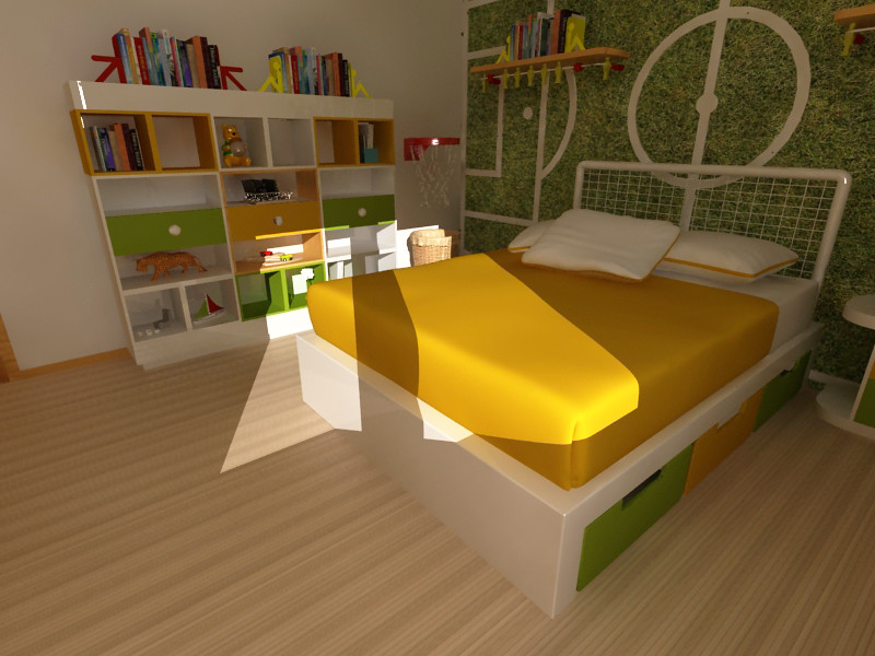 Mobiliario infantil decoracion de cuarto de ni os pared for Mobiliario para ninos