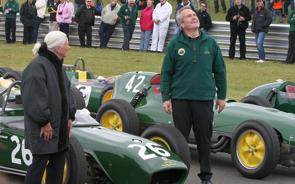 Pictures New Cars >> Hazel Chapman and Clive Chapman with Lotus F1 cars on the … | Flickr