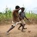 Football among maize fields