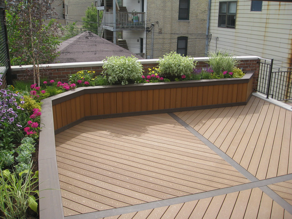 Planter box using trex custom built planter boxes by for Garden decking for sale