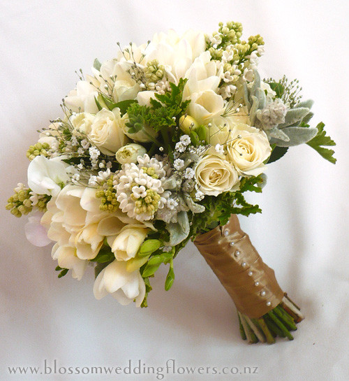 vintage bouquet bridal bouquet using cream freesia spray flickr. Black Bedroom Furniture Sets. Home Design Ideas