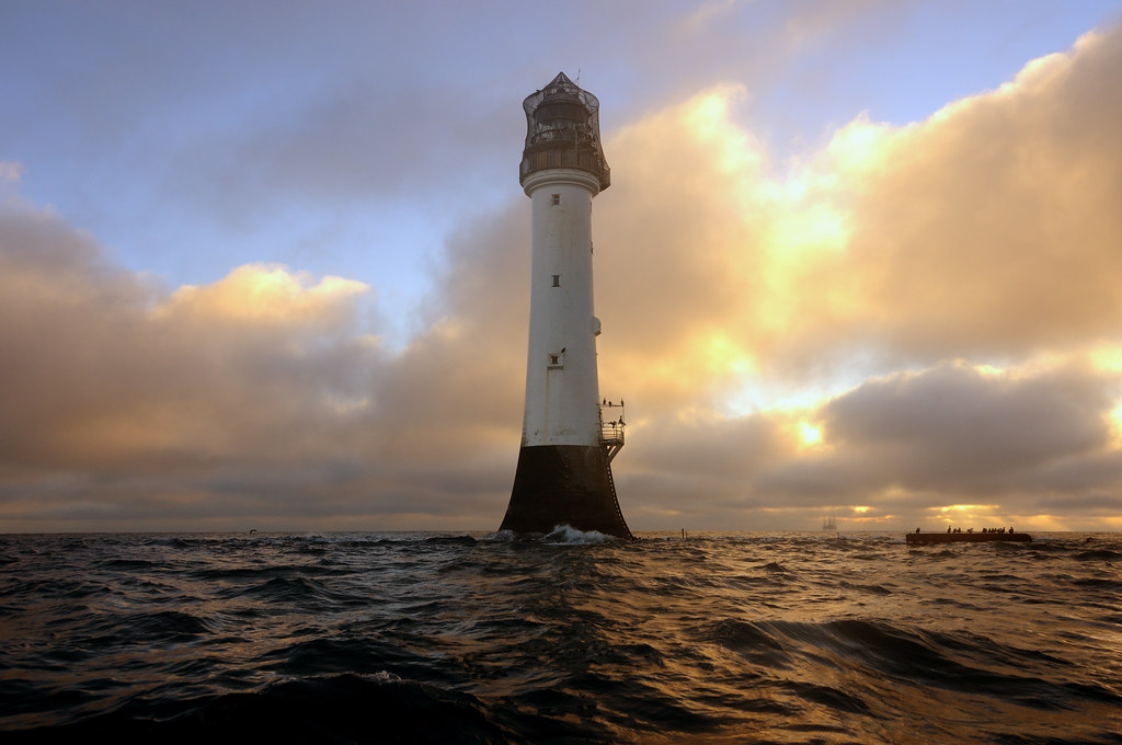 Winter Sunrise At The Bell Rock Lighthouse 12 Miles Off O