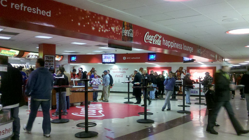 Coca Cola Happiness Lounge Madison Square Garden New Yor Flickr