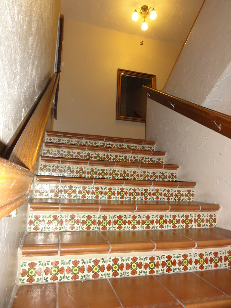 Stairs With Spanish Ceramic Tile Design The Clay Hotel