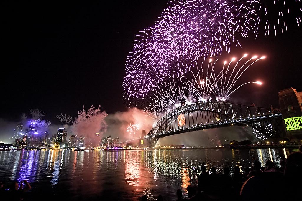 Sydney New Years Eve Restaurant Fireworks