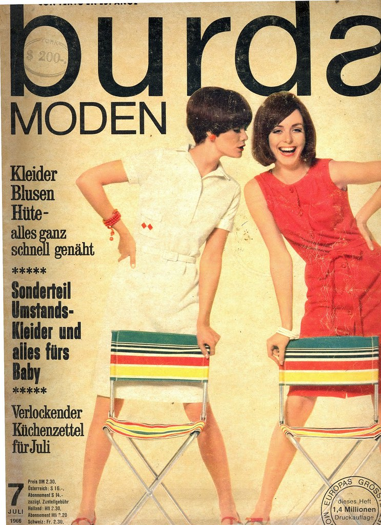 Burda July 1966 German Fashion Magazine Burda Moden July 1 Fashion Covers Magazines Second