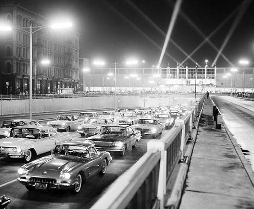 Traffic at the 1960 Auto Show | by Hugo90