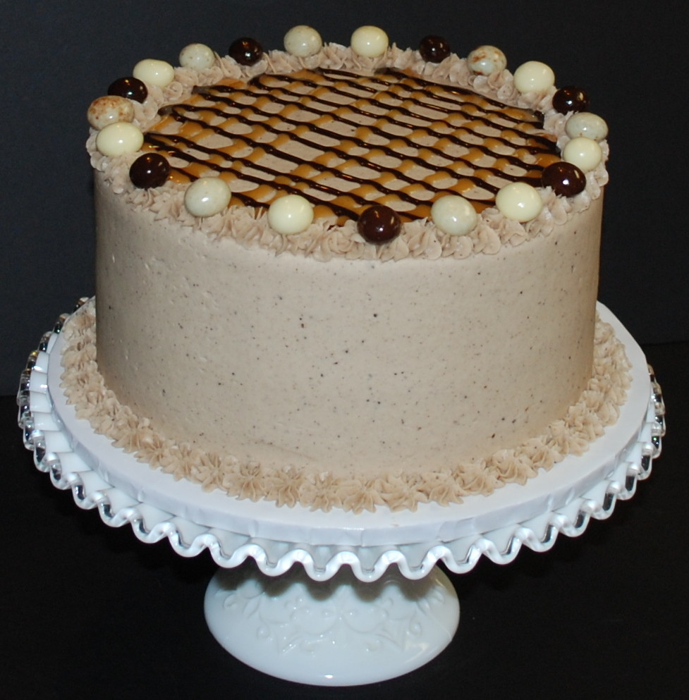 "Mocha Dessert Cake | This is an 8"" chocolate cake filled ..."