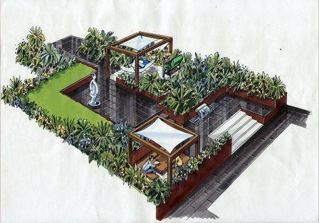 The terraced garden earth designs garden design and for Terrace garden design
