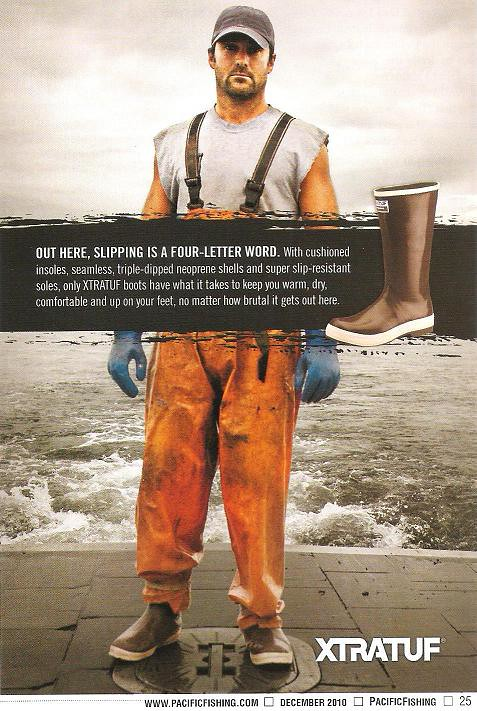 xtratuf boots ad | this is a display ad appearing in the cur… | Flickr