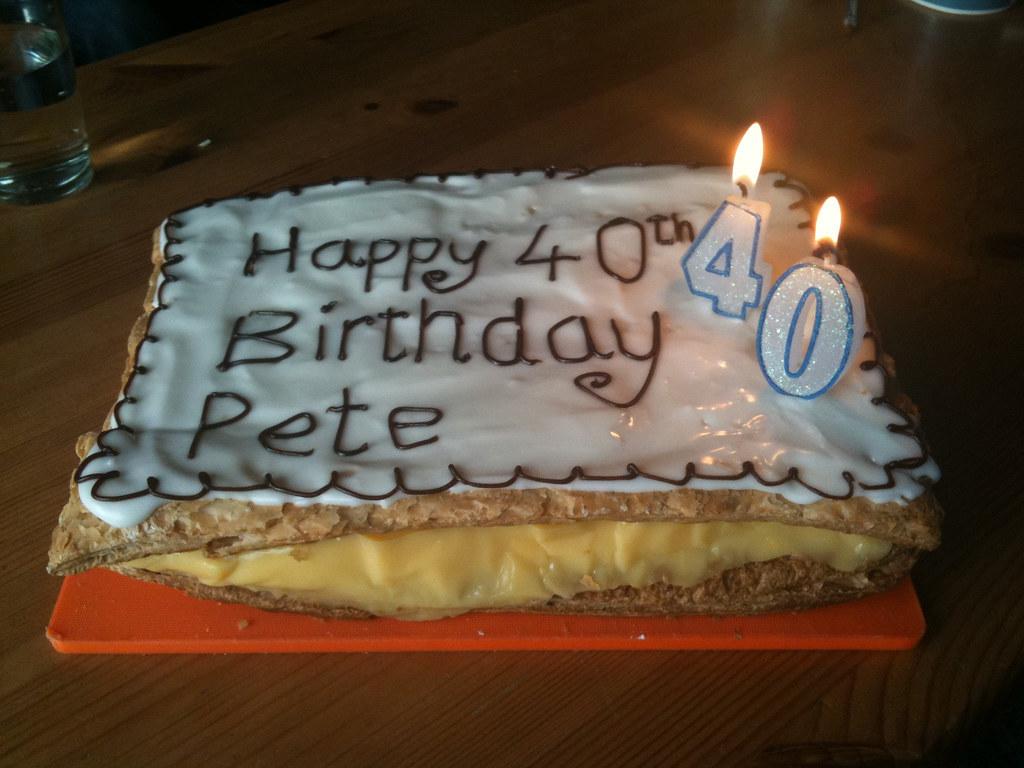 Custard Birthday Cake