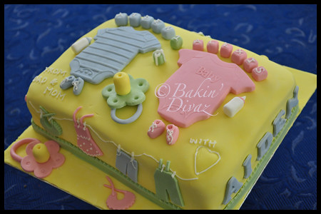 Baby Shower Cake Twins Ideas