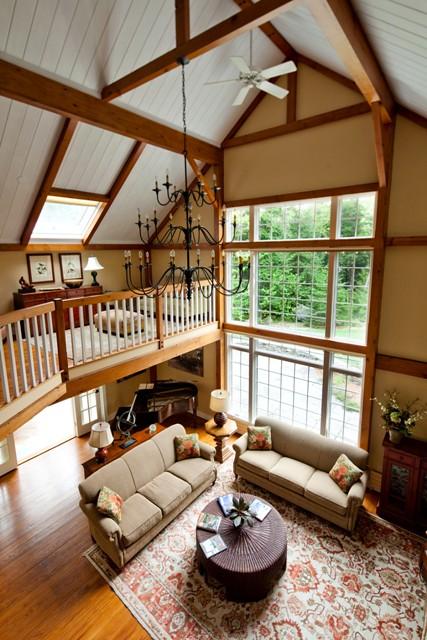 Great Room And Balcony Yankee Barn Homes Flickr
