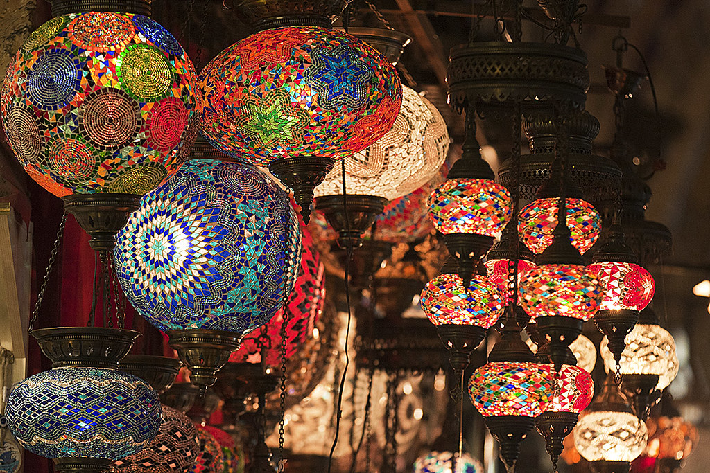 Turkish Lamps In The Grand Bazaar Of Istanbul