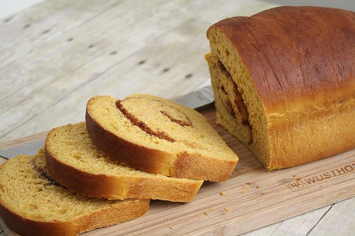 Cinnamon Swirl Pumpkin Yeast Bread | by Tracey's Culinary Adventures