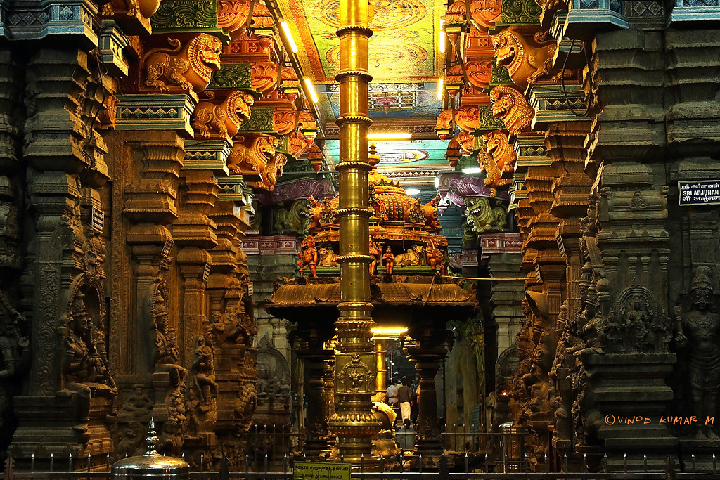 Sree Madurai Meenakshi Amman Temple | Inside view of Sree ...