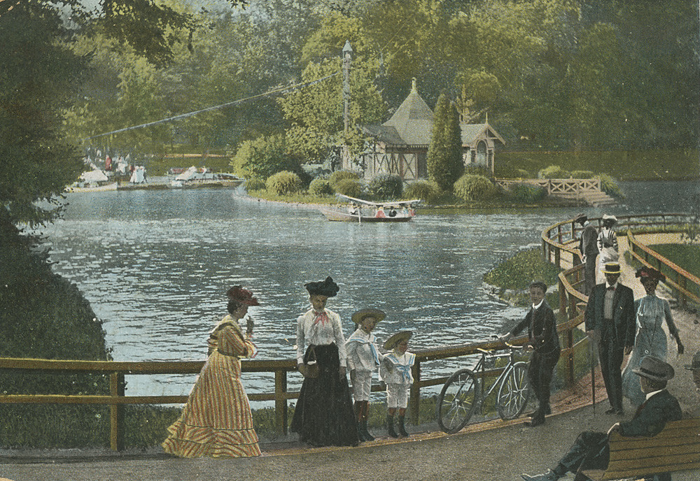 Boat Lake In Druid Hill Park Ca 1906 Vintage Postcard Of Flickr