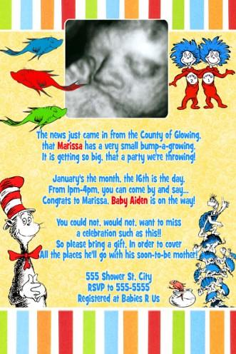 Dr Seuss Baby Shower Invites is luxury invitations ideas