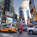 'Garbage Man Heading Uptown At Times Square' (New York,USA)