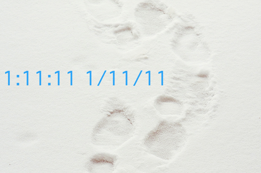 Footsteps In Snows Of Time >> Binary Time and Date This Afternoon: 1023 | Footsteps in the… | Flickr