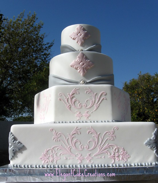 grey and pink wedding cakes pink amp grey wedding cake flickr photo 14980