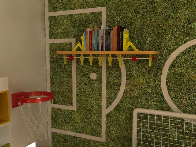 Ambientacion deportiva cuarto infantil decoracion de for Decoracion deportiva