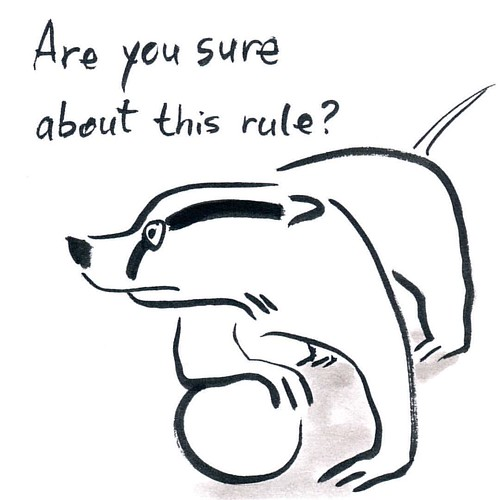 Inktober Day Three - Badger and his love for rules. #badger #parenting #badgerlog #inktober #inktober2016 #ink #brushpen #ink #blackandwhite #areyousure #rules #rule #animalart #doodle #instaart