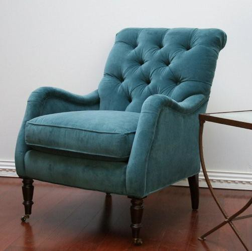 Peacock Blue Velvet Tufted Club Chair Drey Flickr
