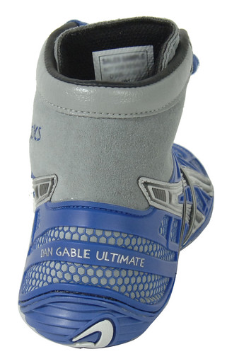 Asics Dan Gable Ultimate 2 Wrestling Shoes in Blue and Silver 4 | by wrestlinggear
