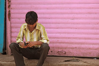 Texting on Pink | by Meanest Indian