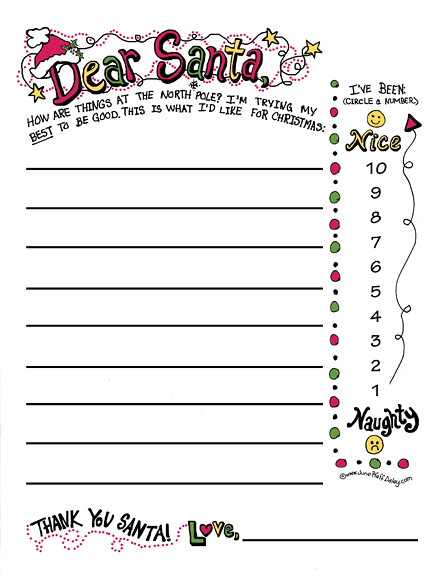 Dear Santa Printables | New Calendar Template Site