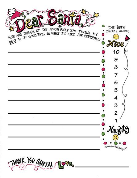 Printable dear santa letter template spiritdancerdesigns Choice Image