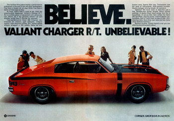 1971 Chrysler Vh Charger Rt E38 Ad Australia Covers