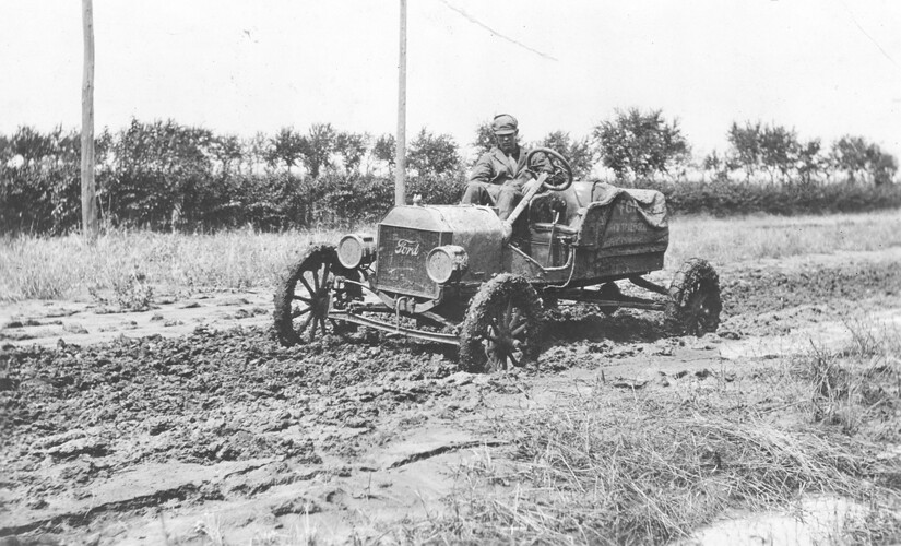 Ford Model T Race Car Stuck In Mud Somewhere In Kansas D Flickr