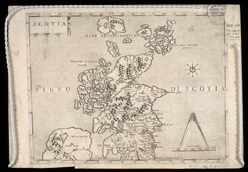 First Map of Scotland 'Scotia: Regno di Scotia' - 1570 | by National Library of Scotland