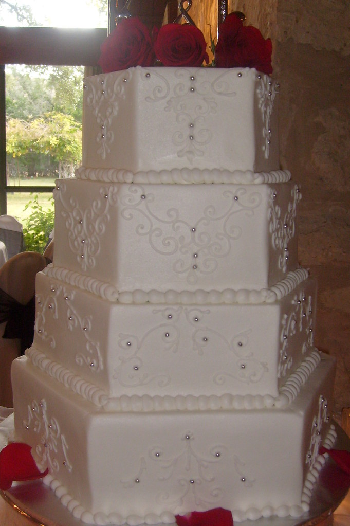 hexagon wedding cake servings cake 4264 150 servings white hexagon wedding 150 flickr 15218